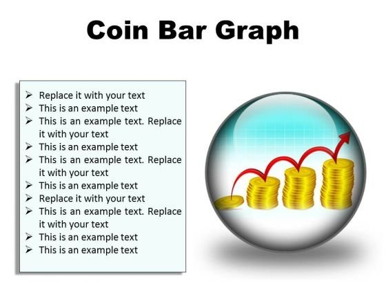 Coin Graph Finance PowerPoint Presentation Slides C