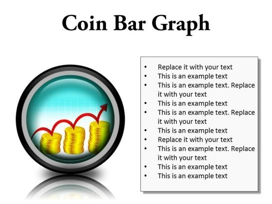 Coin Graph Finance PowerPoint Presentation Slides Cc