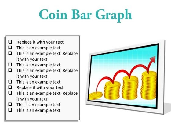 Coin Graph Finance PowerPoint Presentation Slides F
