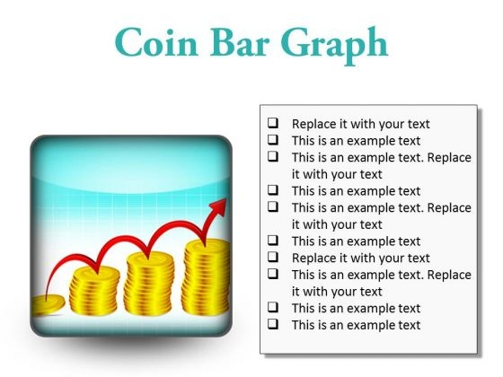 Coin Graph Finance PowerPoint Presentation Slides S