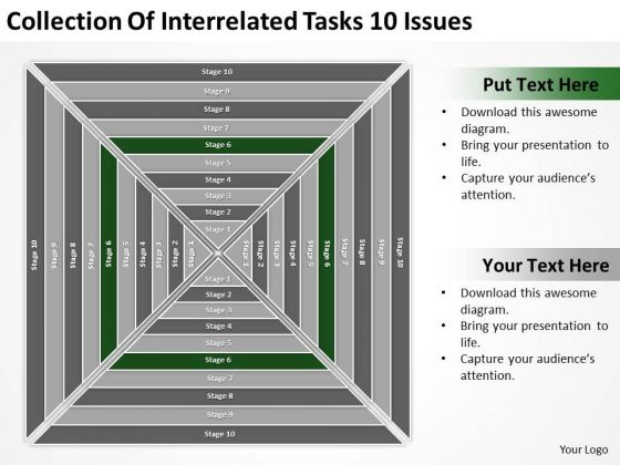 Collection Of Interrelated Tasks 10 Issues Ppt Business Plan Free PowerPoint Templates