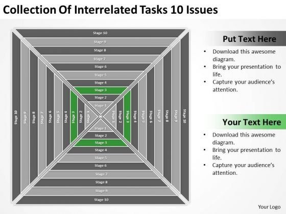 Collection Of Interrelated Tasks 10 Issues Ppt Business Plan PowerPoint Slide
