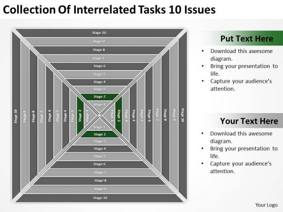Collection Of Interrelated Tasks 10 Issues Ppt Business Plan PowerPoint Slides