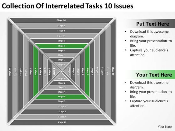 Collection Of Interrelated Tasks 10 Issues Ppt Business Plan PowerPoint Templates