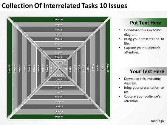 Collection Of Interrelated Tasks 10 Issues Ppt Business Planning Guide PowerPoint Templates