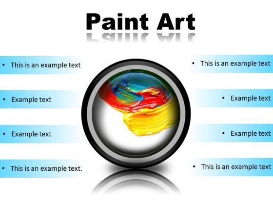 Color Paint Art PowerPoint Presentation Slides Cc