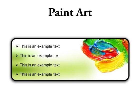 Color Paint Art PowerPoint Presentation Slides R