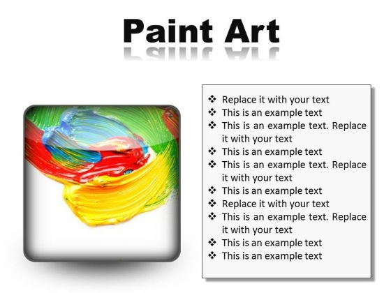 Color Paint Art PowerPoint Presentation Slides S