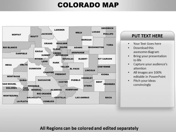 Colorado PowerPoint Maps