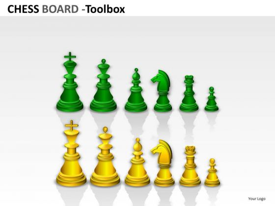 Colored Chess Pieces Graphics PowerPoint Slides