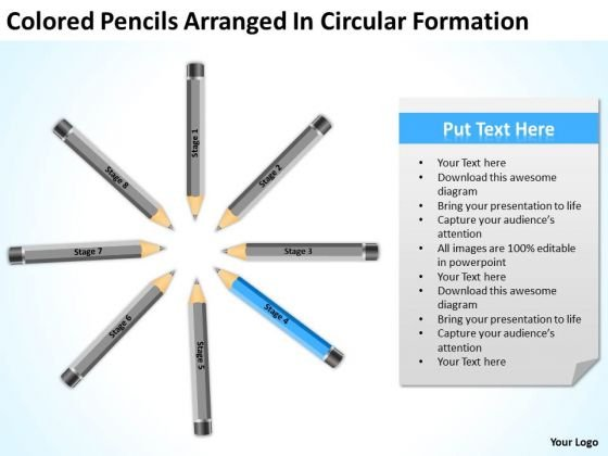 Colored Pencils Arranged In Circular Formation Ppt Business Plan PowerPoint Templates