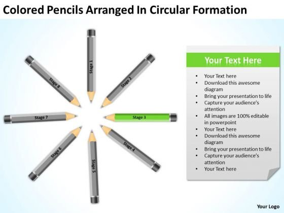 Colored Pencils Arranged In Circular Formation Ppt Business Plan Program PowerPoint Slides