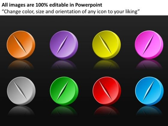 Colored Pills Collection PowerPoint Templates Medical Ppt Slides
