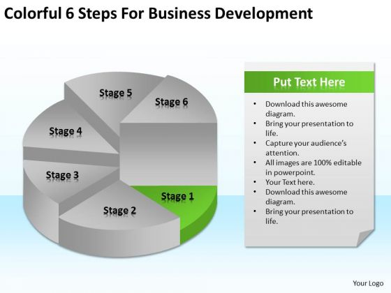Colorful 6 Steps For Business Development Ppt Plans PowerPoint Slides