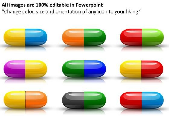 Colorful Capsules Medical PowerPoint Slides And Ppt Diagram Templates