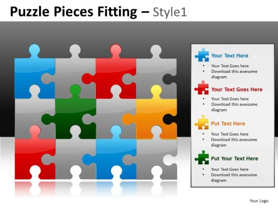 Colorful Construction Business PowerPoint Slides And Editable Puzzles Ppt