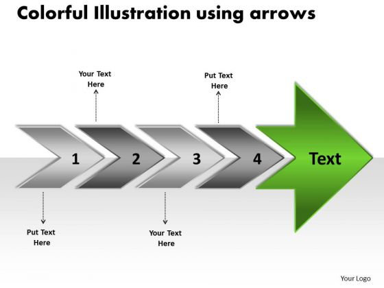 Colorful Illustration Using Arrows Online Flow Chart Maker PowerPoint Templates