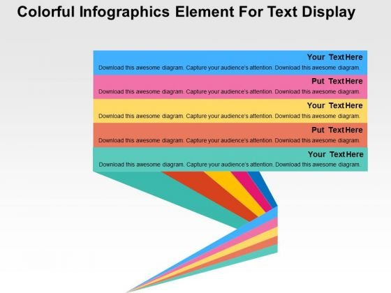 Colorful Infographics Element For Text Display PowerPoint Templates