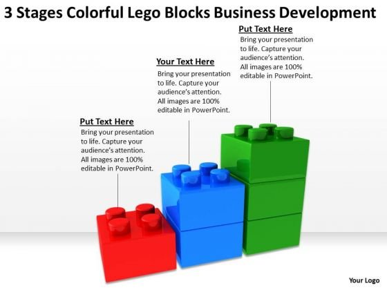 Colorful Lego Blocks Business Development Open Source Plan Software PowerPoint Slides