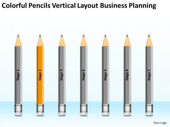 Colorful Pencils Vertical Layout Business Planning Ppt Download Plans PowerPoint Slides