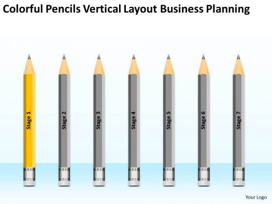 Colorful Pencils Vertical Layout Business Planning Ppt For Bar PowerPoint Slides