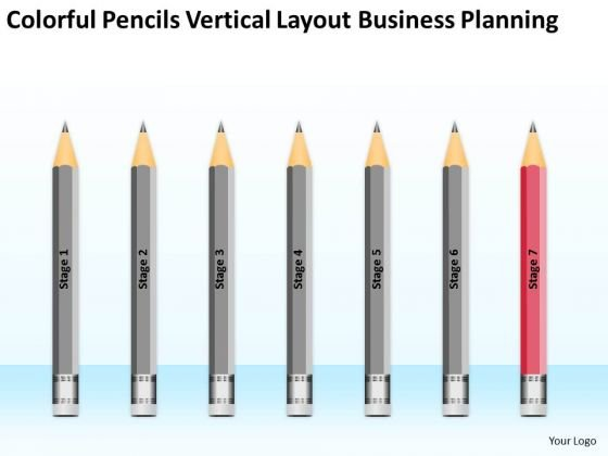 Colorful Pencils Vertical Layout Business Planning Ppt How To PowerPoint Templates