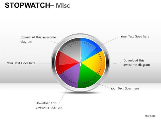 Colorful Stopwatch PowerPoint Slides And Ppt Diagram Templates