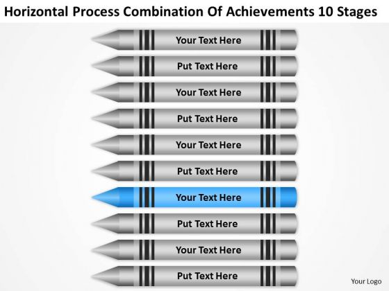 Combination Of Acheivements 10 Stages Ppt Business Plan Template Download PowerPoint Slides