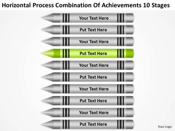 Combination Of Acheivements 10 Stages Ppt Business Plan Writing Services PowerPoint Slides