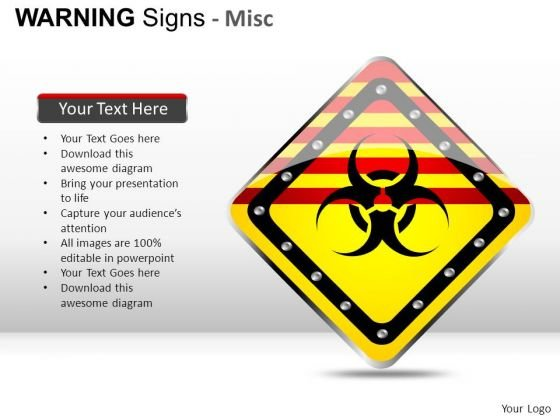 Combustible Warning Signs PowerPoint Slides And Ppt Diagram Templates
