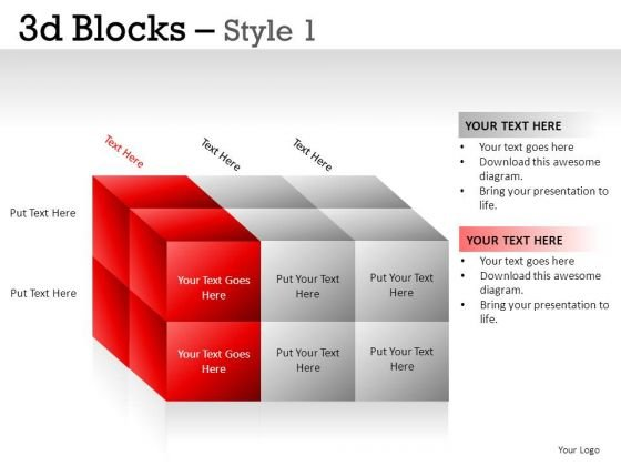 Communication 3d Blocks 1 PowerPoint Slides And Ppt Diagram Templates