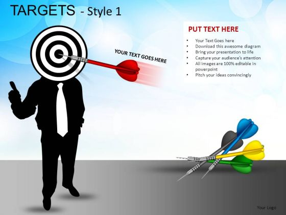 Communication Targets 1 PowerPoint Slides And Ppt Diagram Templates