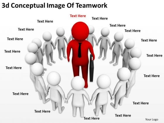 Company Business Strategy 3d Conceptual Image Of Teamwork Characters
