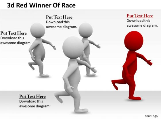 Company Business Strategy 3d Red Winner Of Race Concept Statement