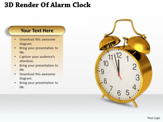 Company Business Strategy 3d Render Of Alarm Clock Best Stock Photos