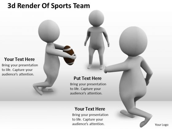 Company Business Strategy 3d Render Of Sports Team Concept Statement