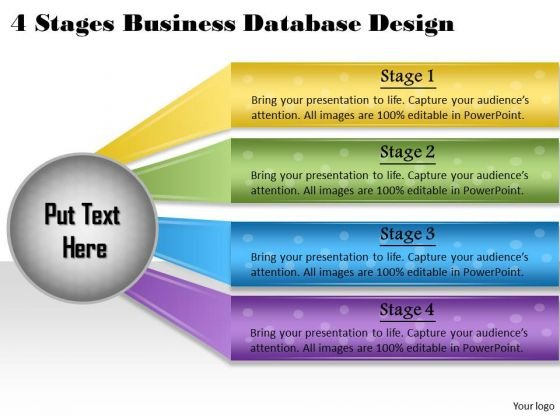Company Business Strategy 4 Stages Database Design Marketing Strategies Ppt Slide