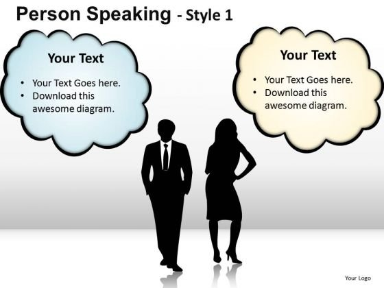 Company Person Speaking 1 PowerPoint Slides And Ppt Diagram Templates