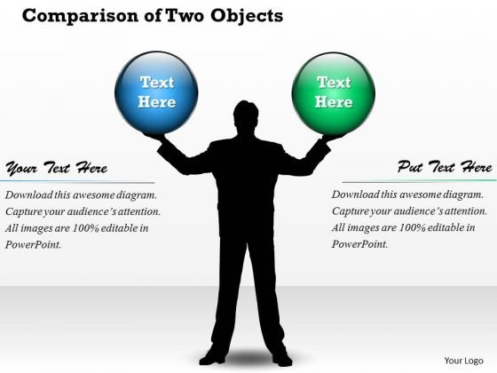 Comparison Of Two Objects PowerPoint Presentation Template