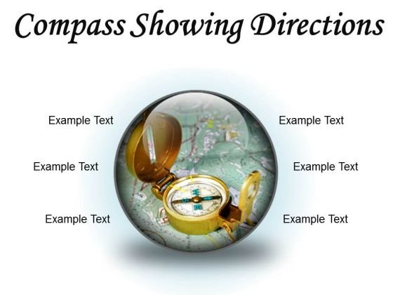 Compass Showing Directions Geographical PowerPoint Presentation Slides C