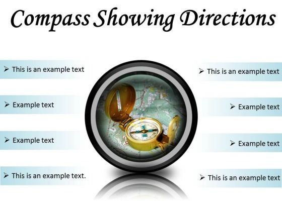 Compass Showing Directions Geographical PowerPoint Presentation Slides Cc