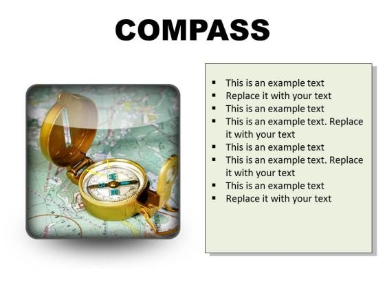 Compass Showing Directions Geographical PowerPoint Presentation Slides S