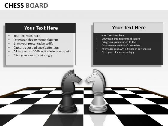Competition Chess Board PowerPoint Slides And Ppt Diagram Templates