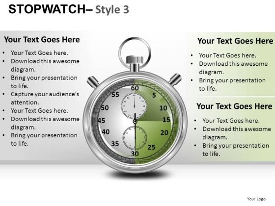 Competition Stopwatch 3 PowerPoint Slides And Ppt Diagram Templates