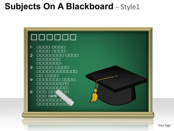 Competition Subjects On A Blackboard 1 PowerPoint Slides And Ppt Diagram Templates