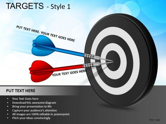 Competition Targets 1 PowerPoint Slides And Ppt Diagram Templates