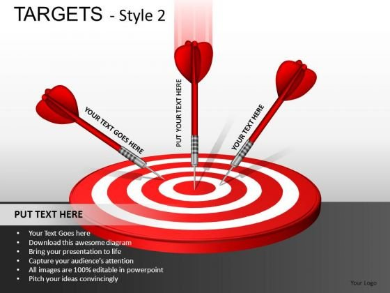 Competition Targets 2 PowerPoint Slides And Ppt Diagram Templates