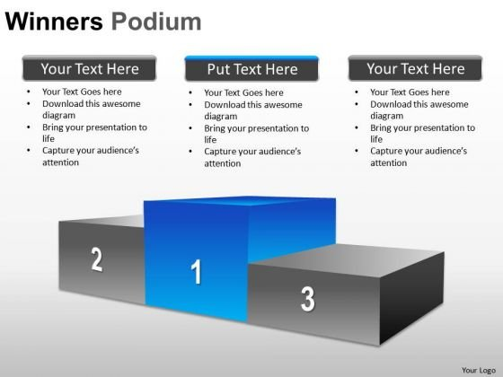 Competition Winners Podium PowerPoint Slides And Ppt Diagram Templates
