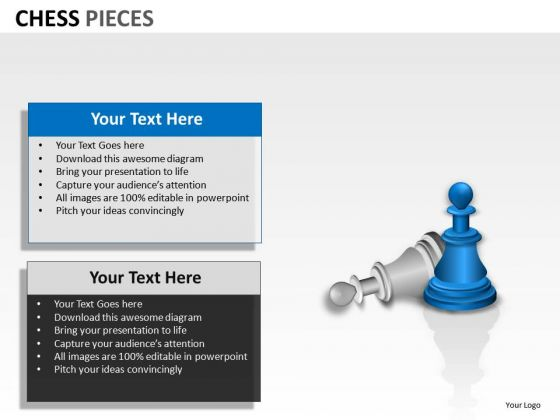 Competitive Chess Pieces PowerPoint Slides And Ppt Diagram Templates