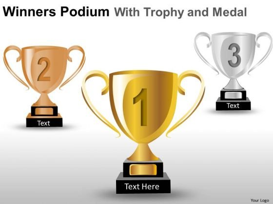 Competitive Winners Podium PowerPoint Slides And Ppt Diagram Templates